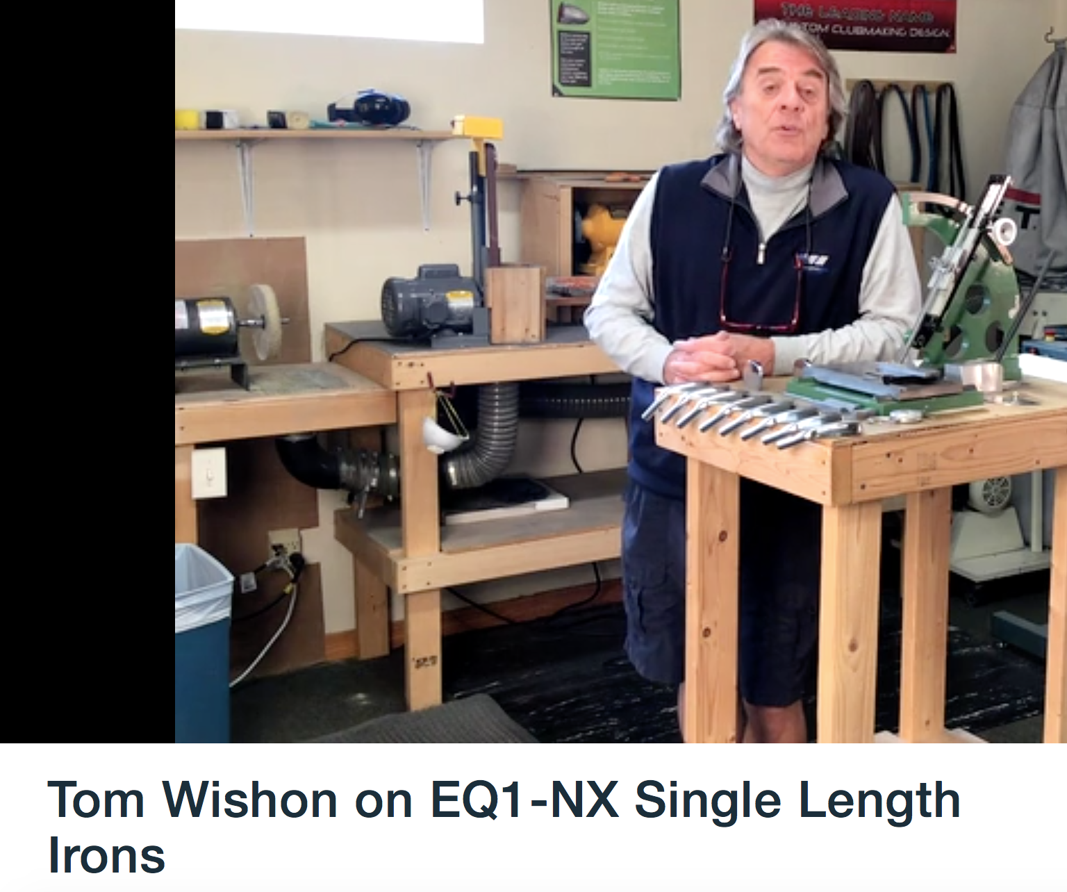 Tom Wishon on EQ1-NX Single Length Irons
