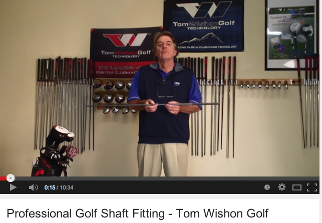 Professional Golf Shaft Fitting by Tom Wishon