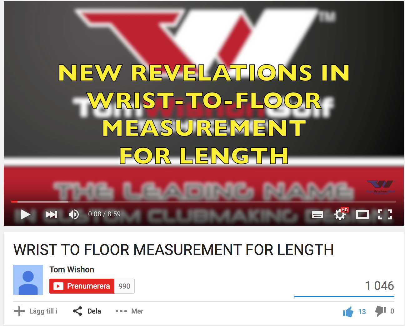 WRIST TO FLOOR MEASUREMENT FOR LENGTH