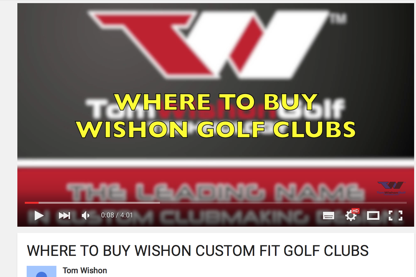 WHERE TO BUY WISHON CUSTOM FIT GOLF CLUBS