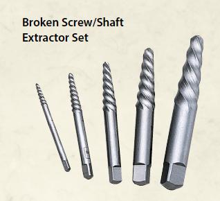 Broken Screw/Shaft Extractor Set