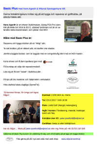 Basic Plus med Hans Agardh & Wilprod Sportagenturer AB