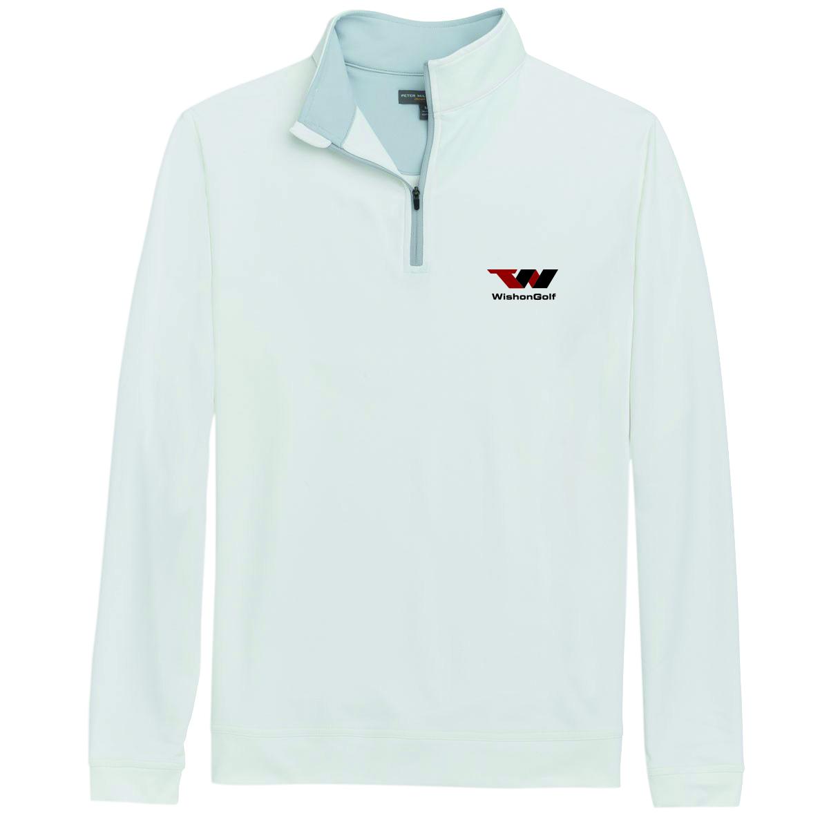 Quarter Zip Long Sleeve Pullover WHITE