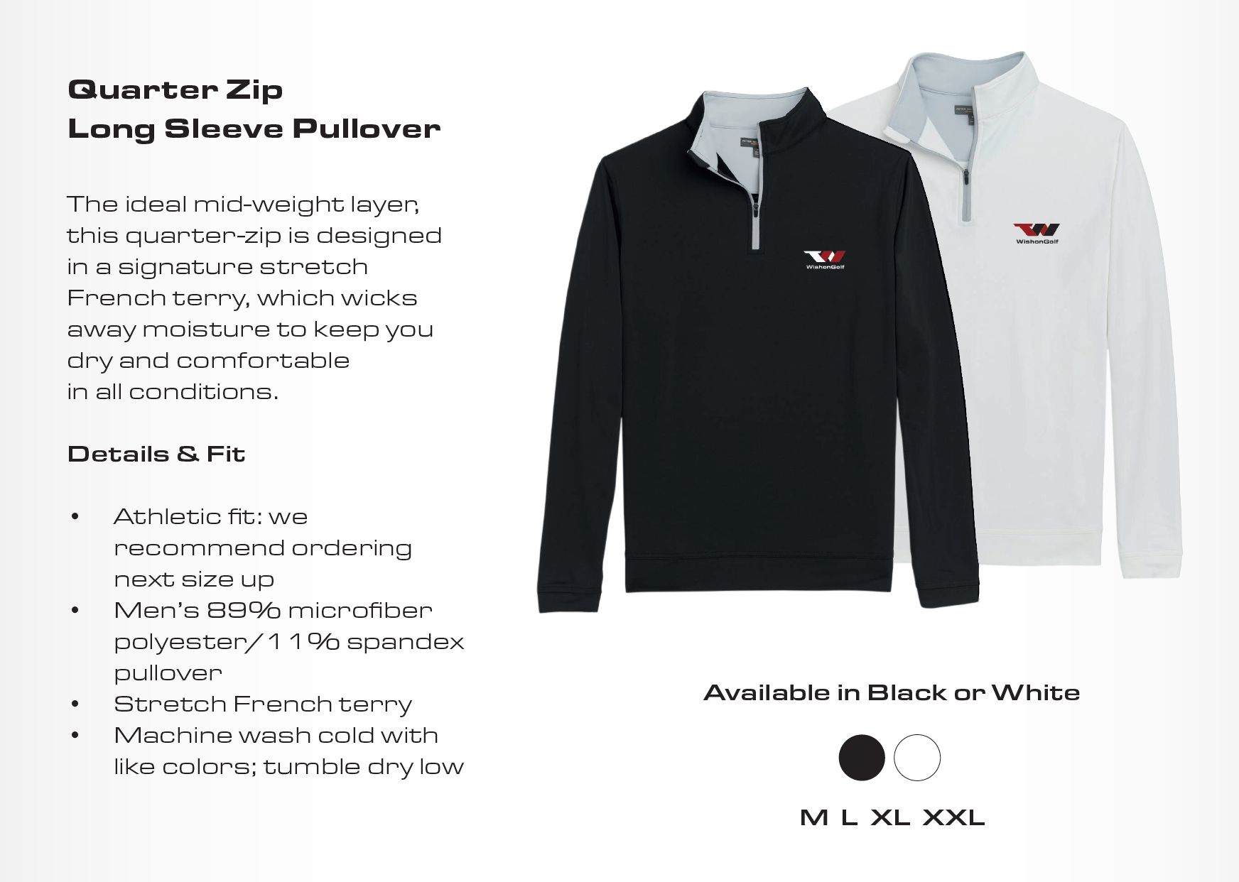 Quarter Zip Long Sleeve Pullover