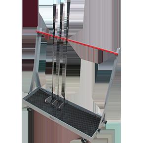 231125 Compact High density club racks on Wheels for 22 clubs