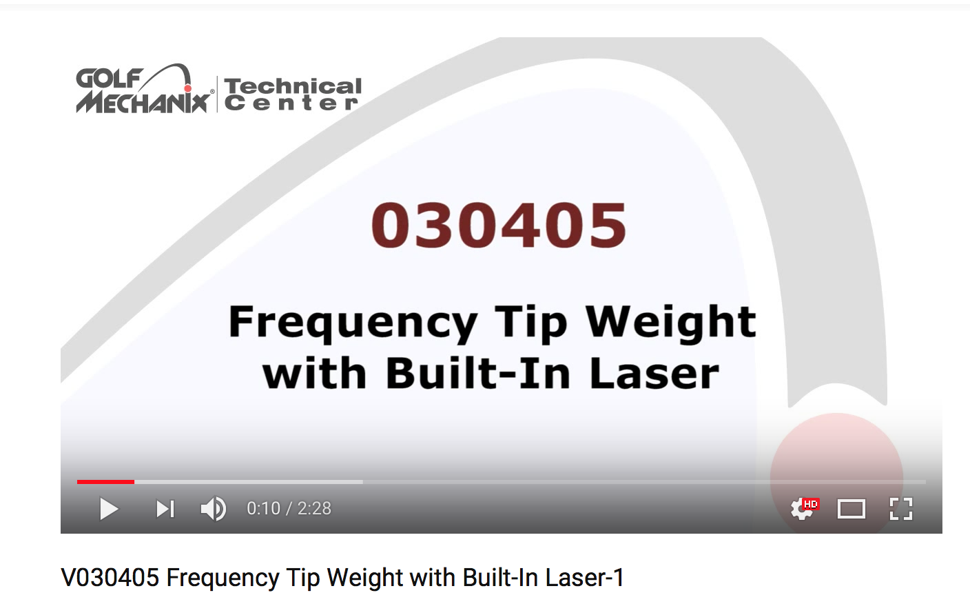Frequency Tip Weight with Built-In Laser