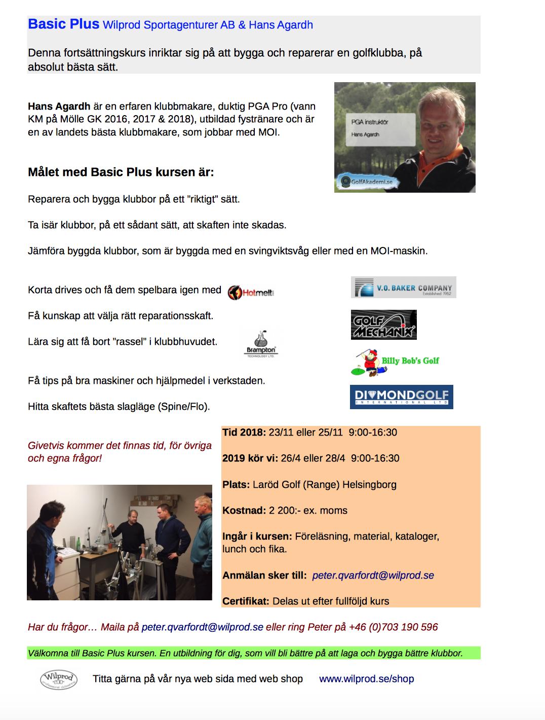 Basic Plus Wilprod Sportagenturer AB & Hans Agardh