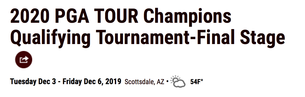 Kval till Champions Tour 2019