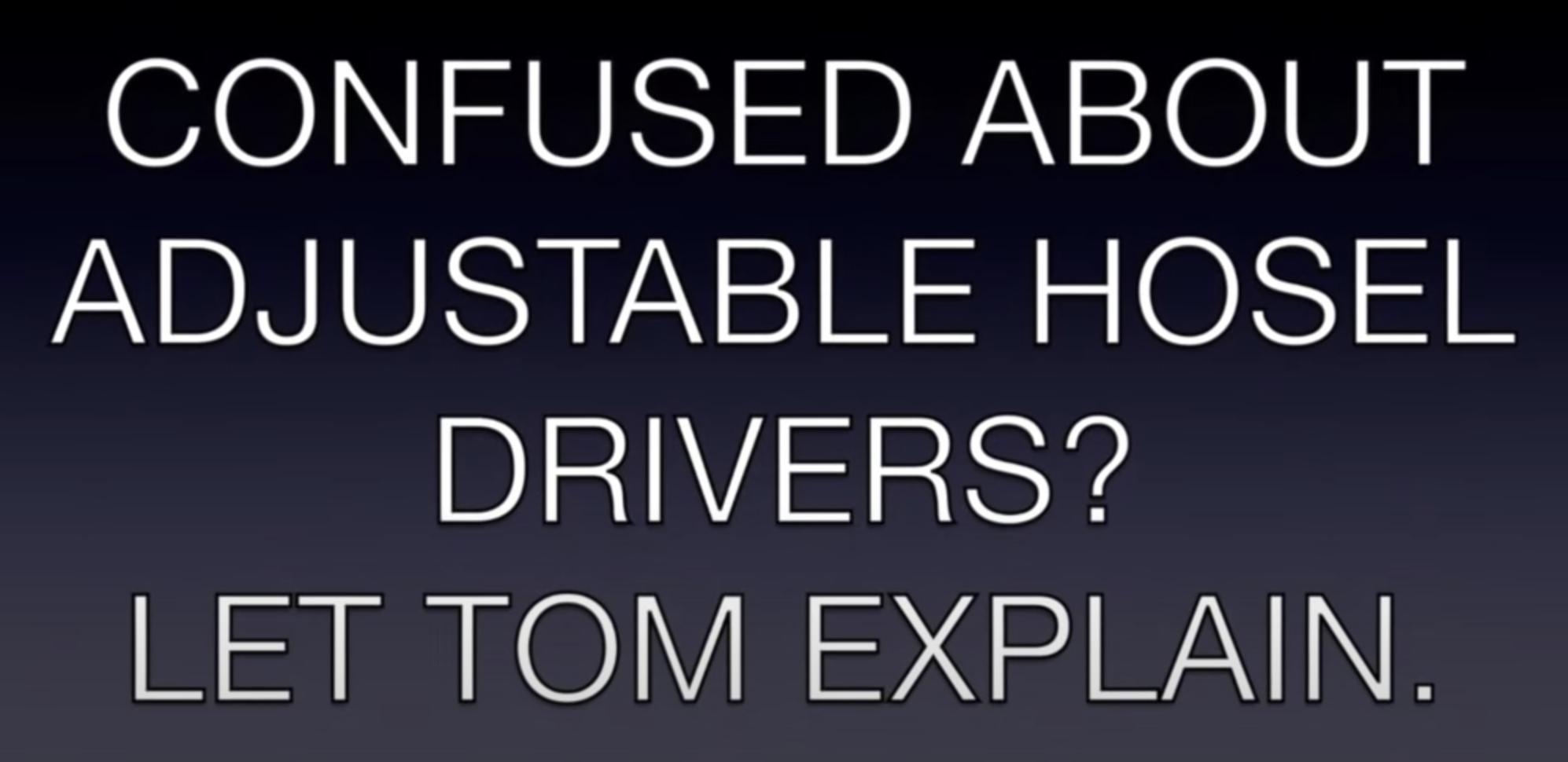 adjustable Hosels
